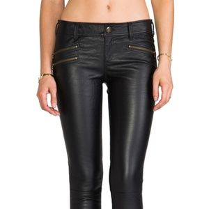 FREE PEOPLE SKINNY VEGAN LEATHER PANT~SIZE 2